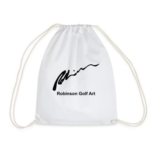 Robinson Black Logo - Drawstring Bag