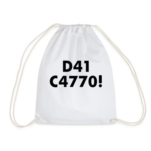 D41 C4770! tradotto: DAI CAZZO! - Sacca sportiva