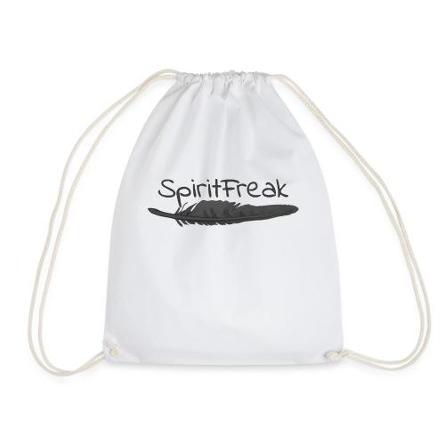 SpiritFreak Fanartikel (Design: schwarz) - Turnbeutel