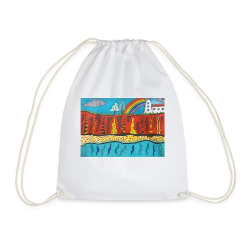 Lighthouse on the Cliff - Drawstring Bag