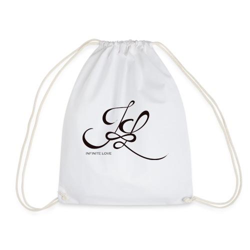 Infinite Love Logo schwarz mit Schrift - Turnbeutel
