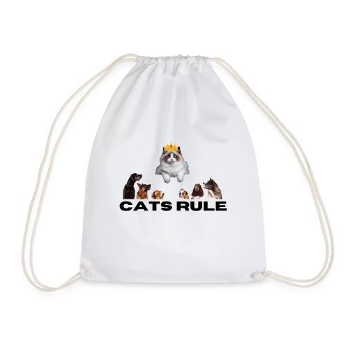 Cats Rule - Drawstring Bag