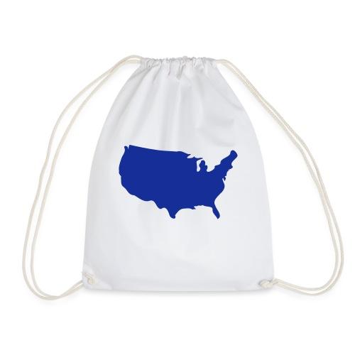 usa map - Drawstring Bag