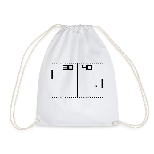 old school tennis game - Drawstring Bag