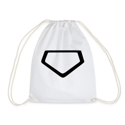 Baseball Homeplate Outline - Drawstring Bag