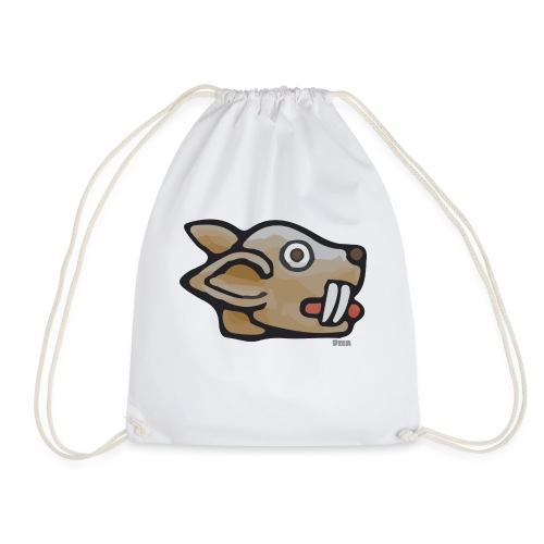 Aztec Rabbit Star - Drawstring Bag