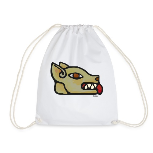 Aztec Icon Dog - Drawstring Bag