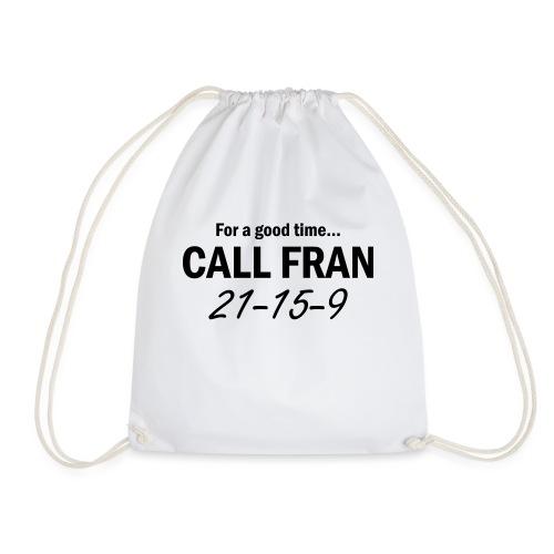 crossfit call fran - Drawstring Bag