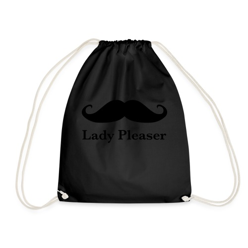 Lady Pleaser T-Shirt in Green - Drawstring Bag