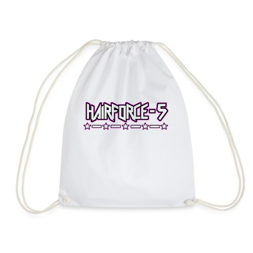 HF5 stars logo white - Drawstring Bag