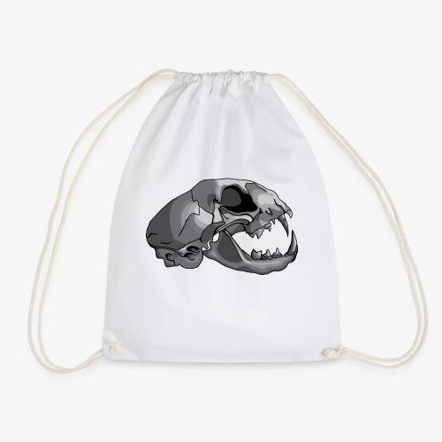 cat skull - Drawstring Bag