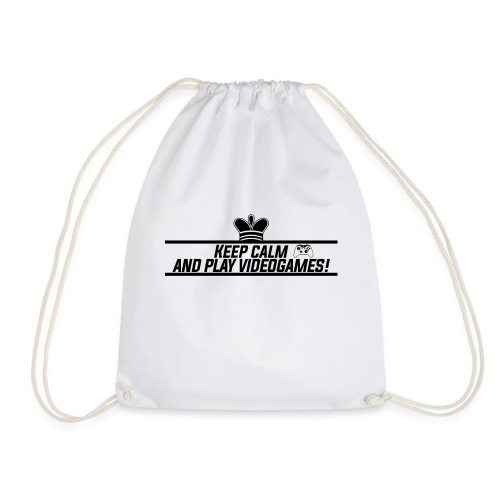 Keep calm and play videogames - Drawstring Bag