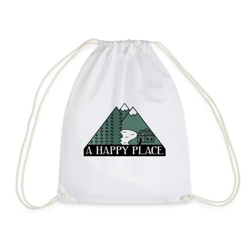 A Happy Place - Drawstring Bag