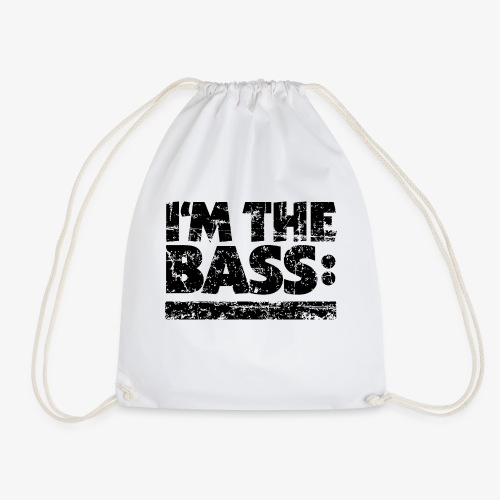 I M THE BASS Vintage Black Line - Turnbeutel