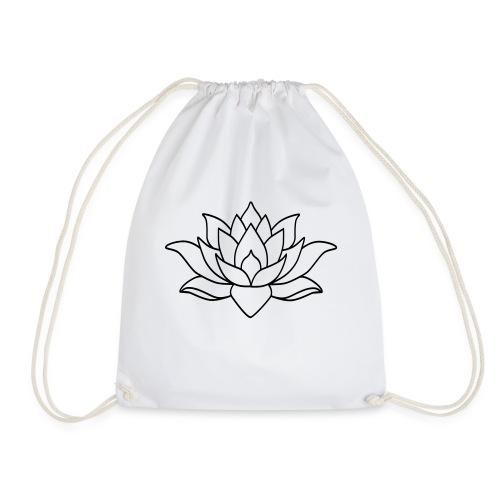 logo nur lotus pfade shirt - Turnbeutel