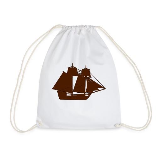 brown ship 3 - Drawstring Bag