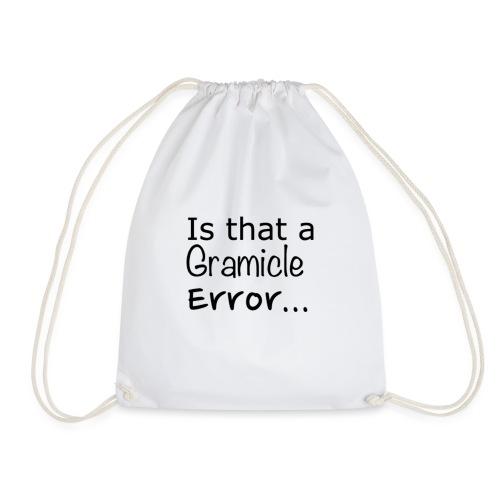 Gramicle Error - Drawstring Bag