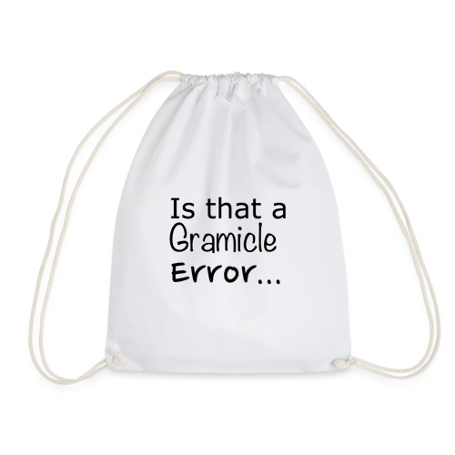 Gramicle Error - Drawstring Bag