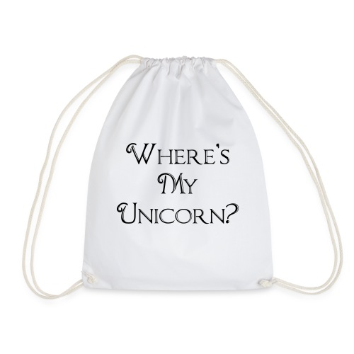 Where's My Unicorn - Drawstring Bag