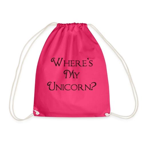 Where's My Unicorn - Drawstring Bag