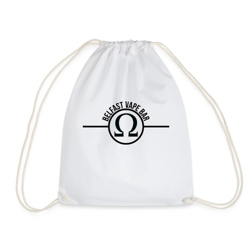 Belfast Vape Bar shirt (white) - Drawstring Bag