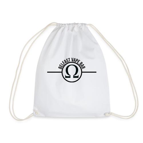 Belfast Vape Bar shirt (white) - Drawstring Bag
