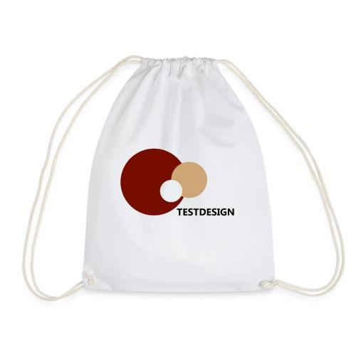 testdesign_font_black_transparent_background - Drawstring Bag