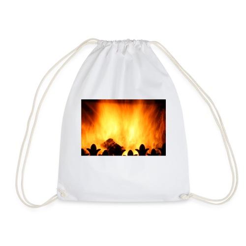 peat fire burning - Drawstring Bag