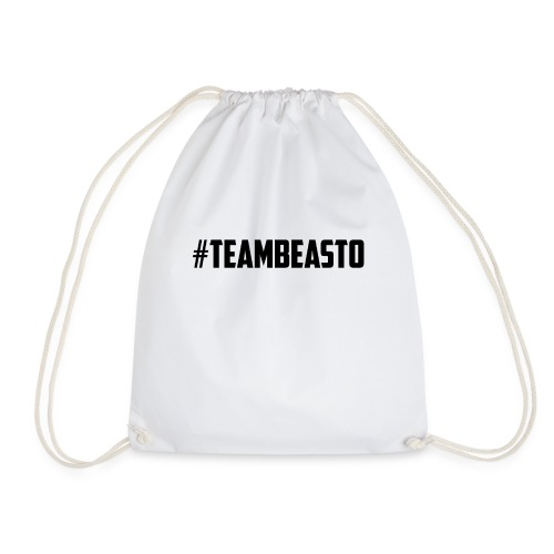 #TeamBeasto Black Best Sellers - Drawstring Bag