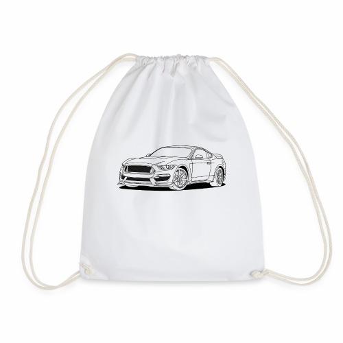 Cool Car White - Drawstring Bag