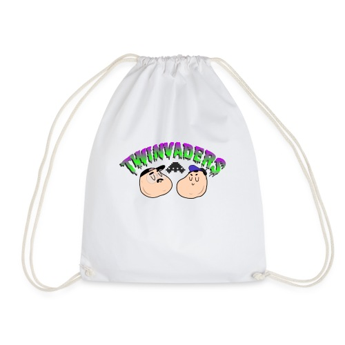 Twinvaders Logo - Drawstring Bag