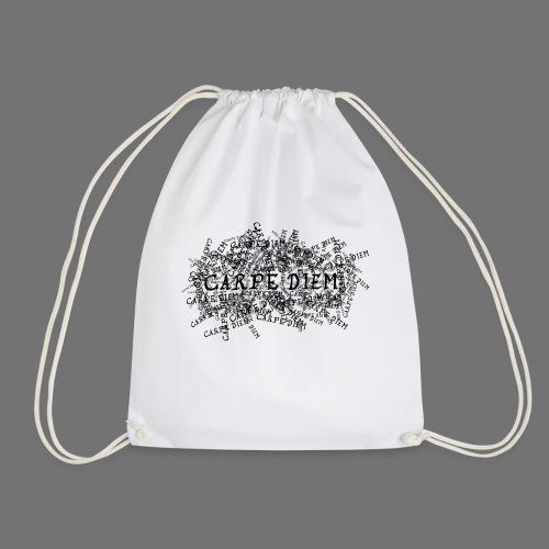 carpe diem (black) - Drawstring Bag