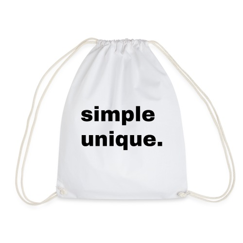 simple unique. Geschenk Idee Simple - Turnbeutel