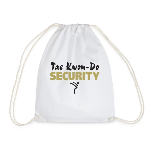 Taekwondo Security black & gold print - Drawstring Bag