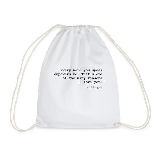 Empowerment - Black Text - Drawstring Bag