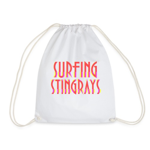 Surfing stingrays rooie letters logo - Gymtas