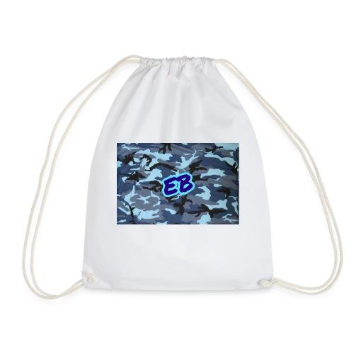 Ellibradyoffical blue camo - Drawstring Bag