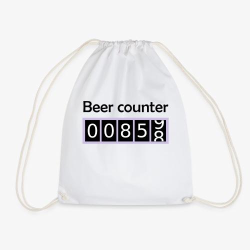 Bier counter / Bier Zähler englisch - Turnbeutel