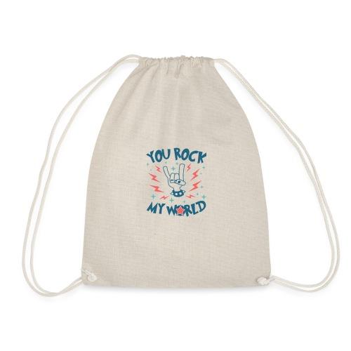 You Rock My World - Drawstring Bag
