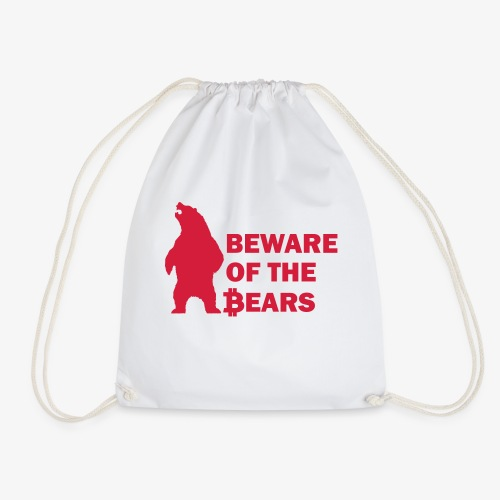 Beware of the bears red - Turnbeutel