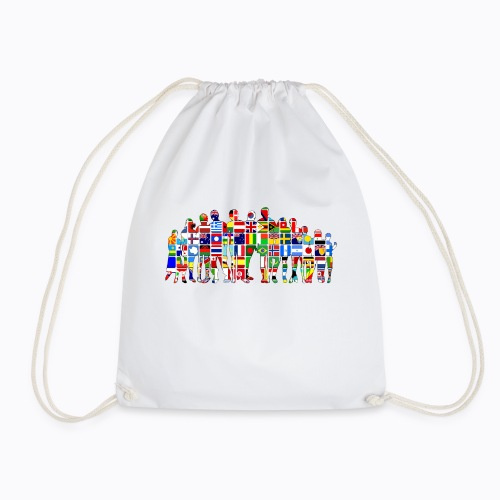 all the world - Drawstring Bag