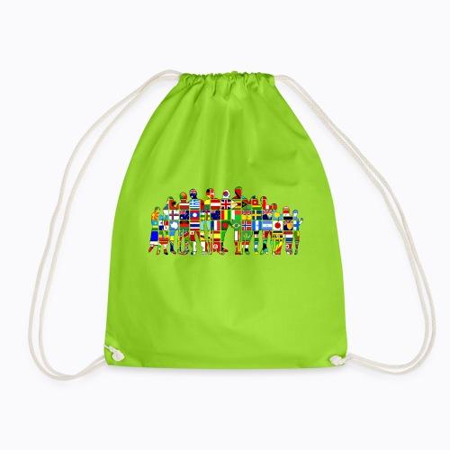 all the world - Drawstring Bag
