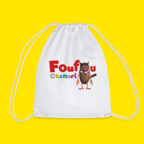Foufou Logo Posing - Drawstring Bag