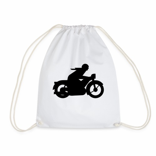 AWO driver silhouette - Drawstring Bag