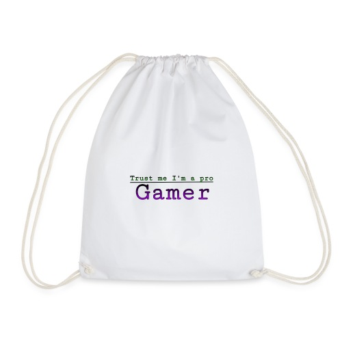 Trust me Im a pro gamer - Drawstring Bag