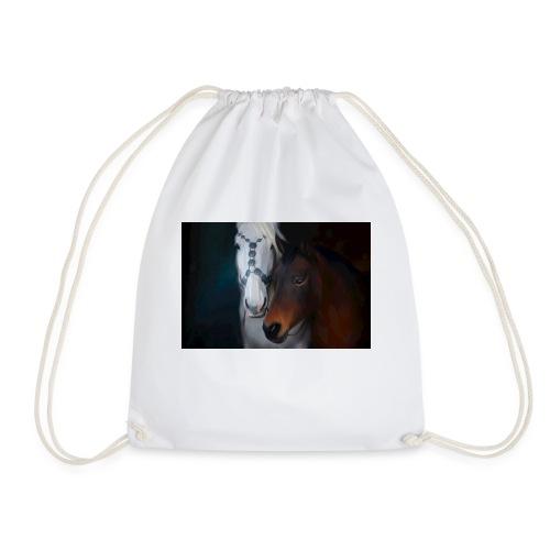 Painted horse portrait - Turnbeutel