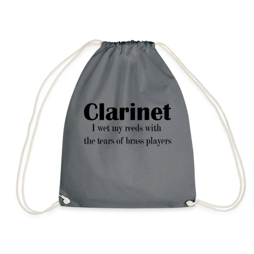 Clarinet, I wet my reeds with the tears - Drawstring Bag