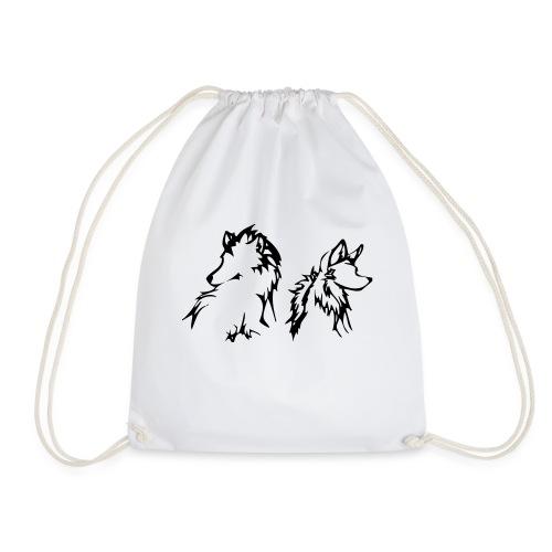 two wolves small - Sportstaske