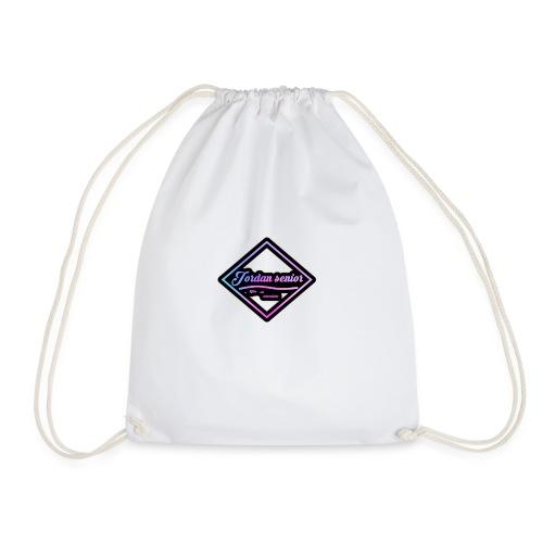 jordan sennior logo - Drawstring Bag