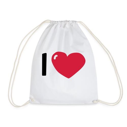 I love / I heart / I herz (Waldorf Style) - Turnbeutel